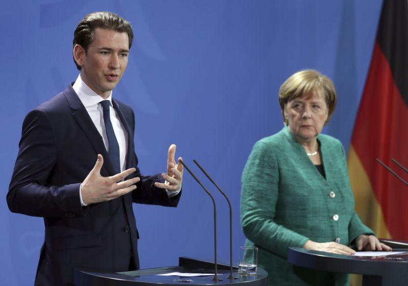 German, Austrian chancellors stress need to secure EU border