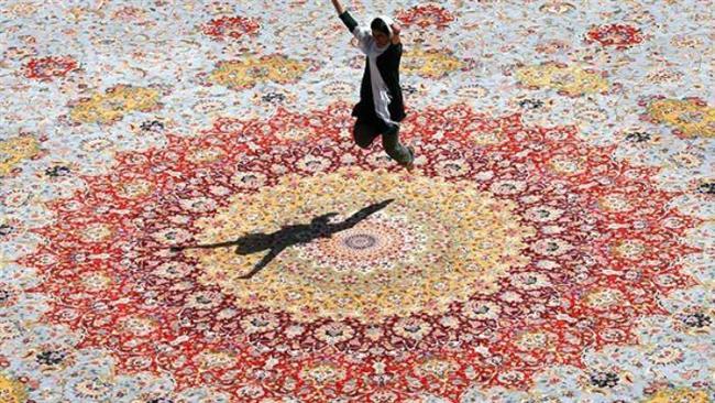 Persian carpet artistic narrative of Iranian history, culture