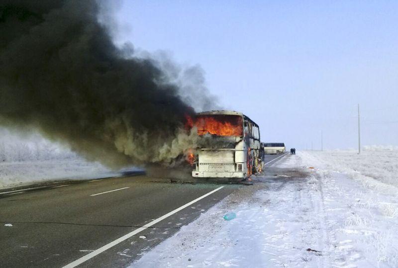 Bus fire kills 52 Uzbeks traveling in Kazakhstan: Kazakh government