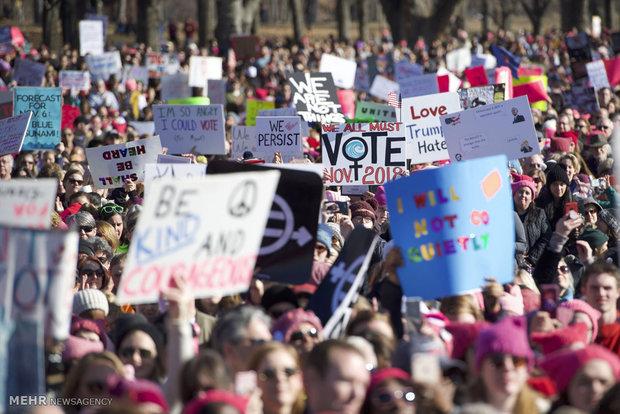 American Women protest against Trump