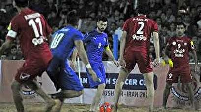Iran moves past Azerbaijan 3-2 in 2018 Persian Beach Soccer Cup