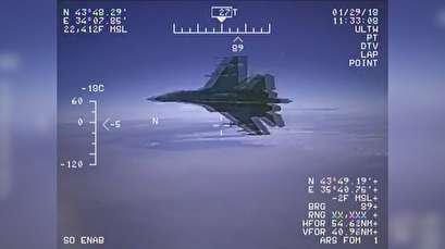 Pentagon releases footage of Russian Su-27 intercepting US spy plane over Black Sea