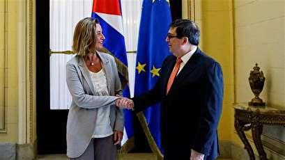 EU's top diplomat meets Cuban president to boost ties