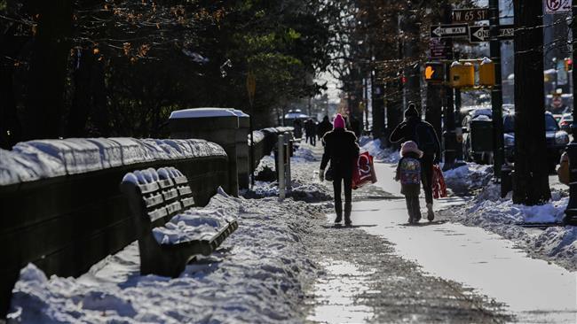 Brutal cold snap stuns US East Coast after blizzard