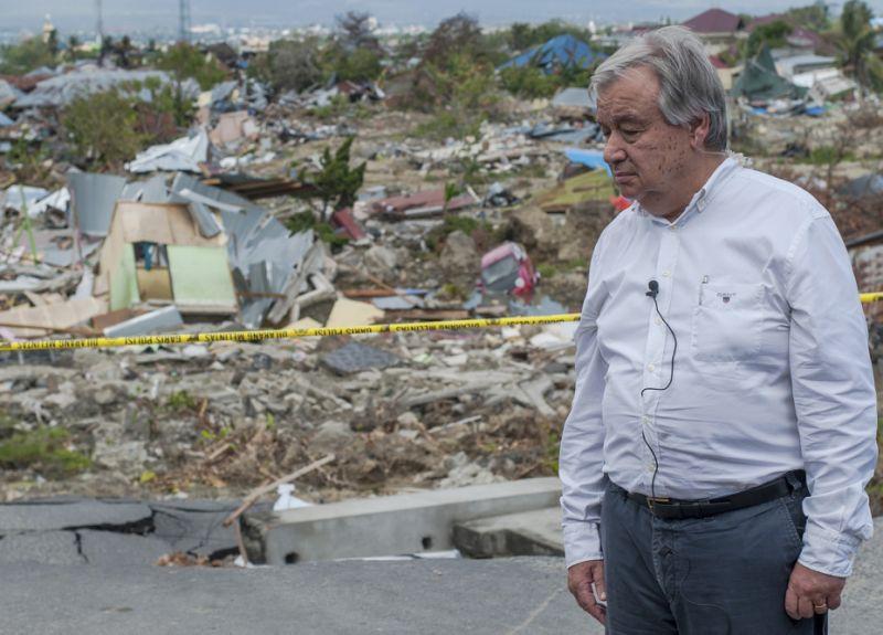 UN secretary general visits quake-hit Indonesian city
