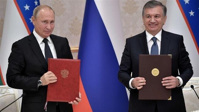 Russian, Uzbek presidents launch nuclear power plant construction