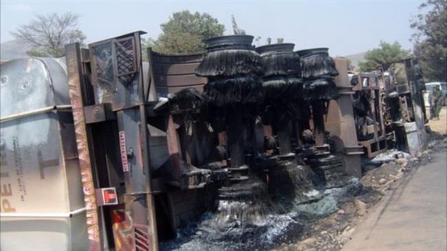50 killed, 100 burnt in fuel tanker crash in DR Congo