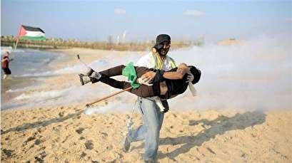 22 Palestinians injured in Israeli attack on Gaza naval march