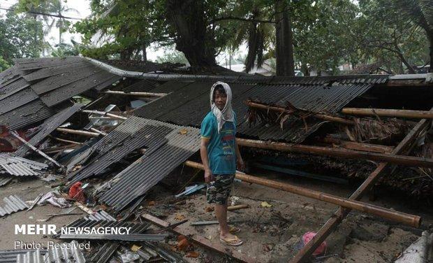 Tsunami victims in Indonesia