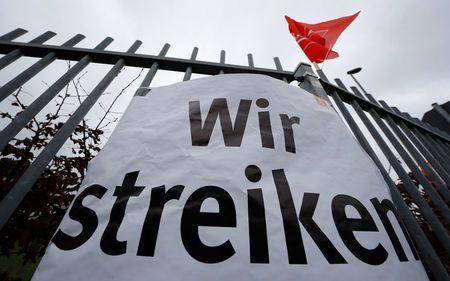German industrial workers stage second 24-hour strike