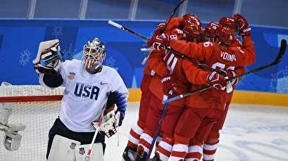 Russian men's hockey squad trounces US 4-0 in Pyeongchang