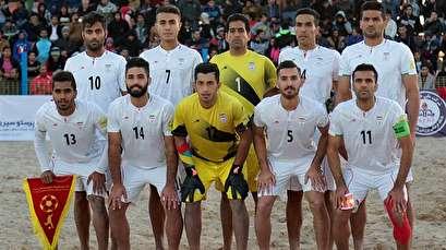 Iran beach soccer team stays put in international rankings