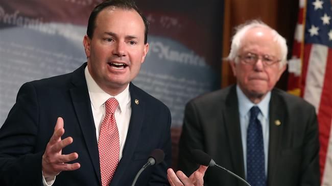 Senators Sanders, Lee seek to end US role in Saudi war on Yemen