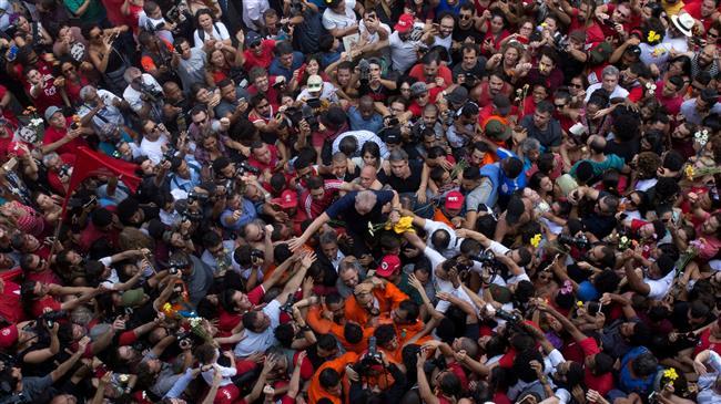 Imprisoned ex-President Lula to register for Brazil's election
