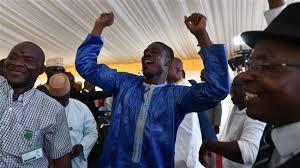 Supporters celebrate re-election of Mali president Keita
