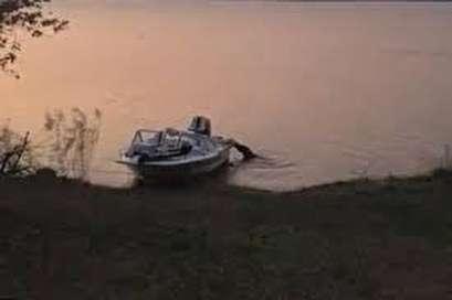 Crocodile's motorboat attack caught on camera