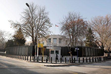 Gunshots fired at U.S. embassy in Turkey, no casualties: CNN Turk