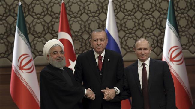 Erdogan in Tehran for summit with Putin, Rouhani