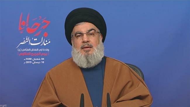 US blacklisting of IRGC proves Washington's fiasco in Middle East: Nasrallah