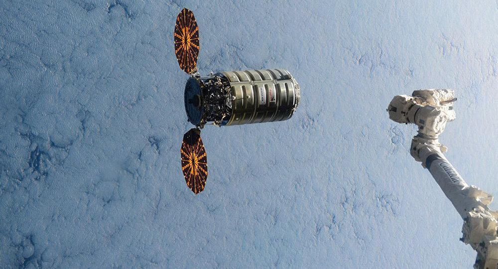 Cygnus cargo unmanned module docks with international space station
