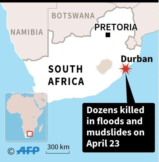 S.Africa floods toll 'around 70'