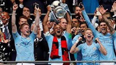 Man City crush Watford in FA Cup final to win domestic treble