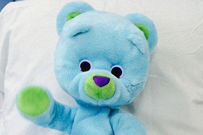 Robot teddy bear comforts hospitalized children