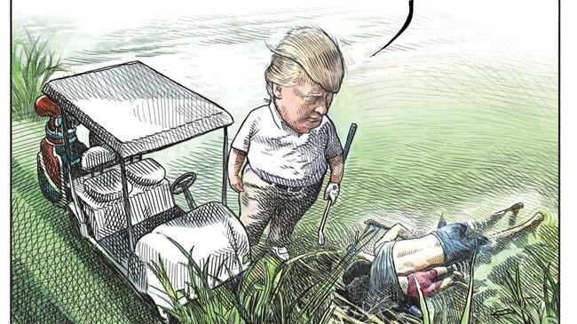 Canadian artist fired after viral Trump cartoon