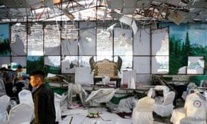 Afghanistan wedding hall blast: more than 60 killed, 180 injured