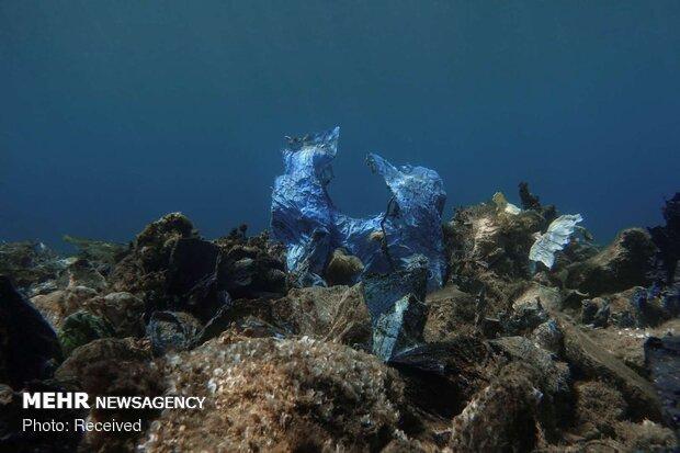 Plastic waste in oceans