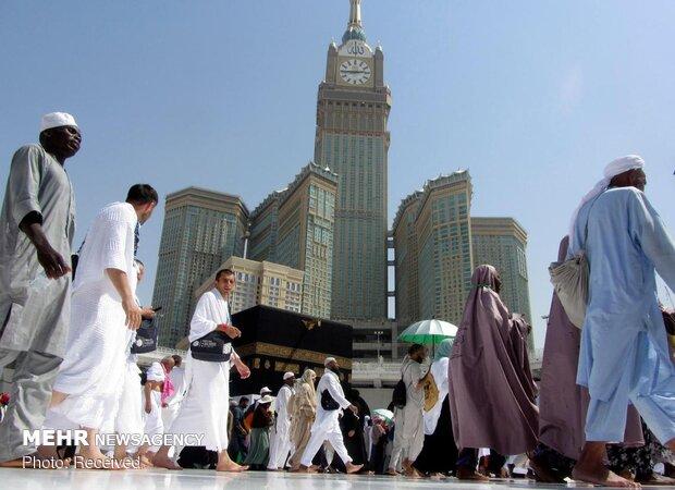Hajj pilgrims in the Great Mosque of Mecca