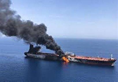 Norwegian ship MV Osprey catches fire off UAE coast