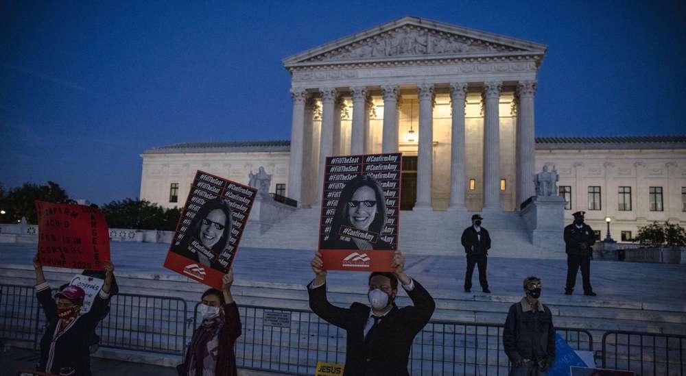 US Senate confirms Trump's third judge to US Supreme Court days before election