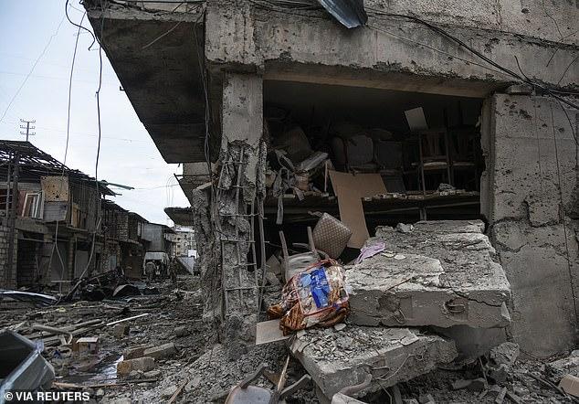 Azerbaijan's Ganja has been hit by heavy shelling