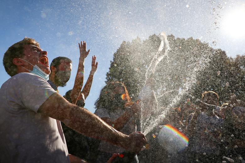 Americans celebrate Biden's win outside White House