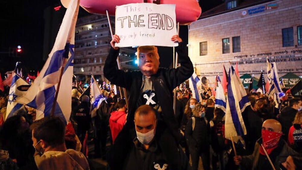 Israelis demand Netanyahu's resignation in massive protest rallies