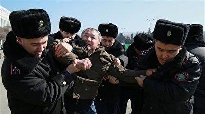 Police in Kazakhstan detain dozens amid rage over activist's death