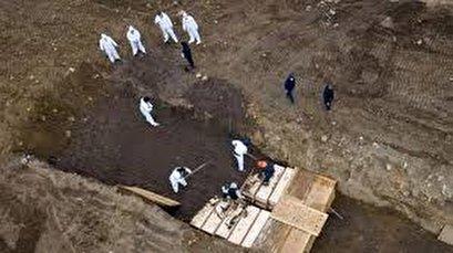 Footage reveals coronavirus mass grave in New York