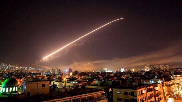 Syrian air defenses respond to Israeli airstrike