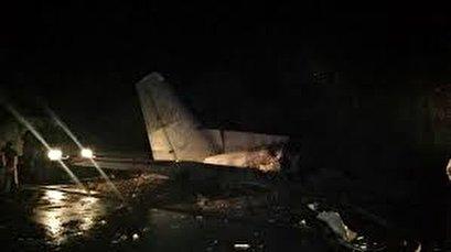 Military transport plane crashes in northern Ukraine, killing 22
