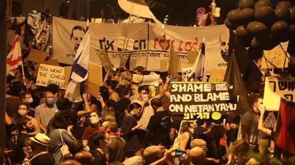 Israeli demonstrators stage anti-Netanyahu protest