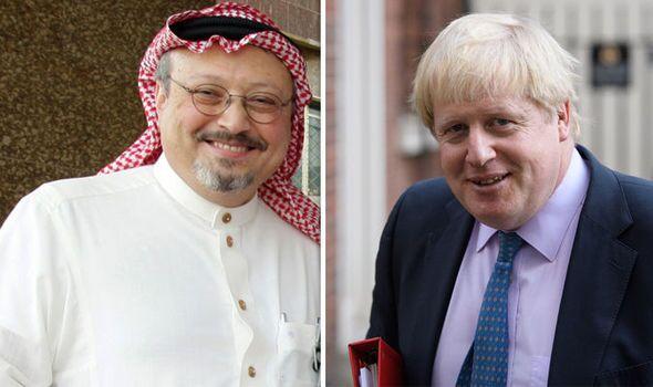 Boris Johnson Condemns Murder of Jamal Khashoggi