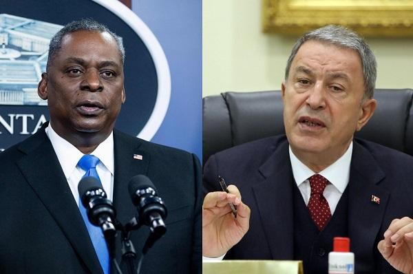 Turkish, US defense chiefs talk defense cooperation
