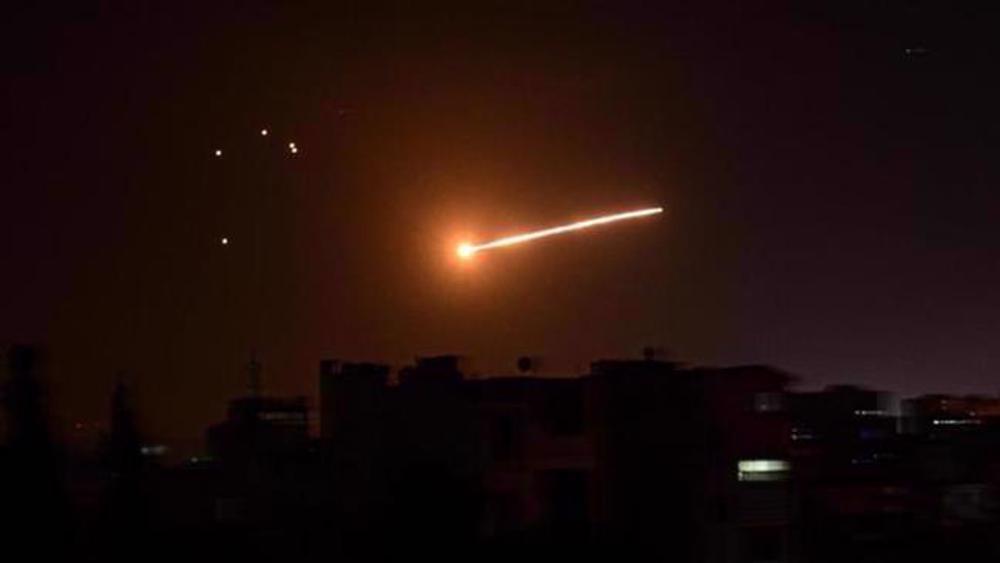 Syria intercepts Israeli missiles near Damascus