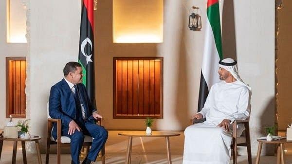 Bin Zayed meeting with new Libya PM