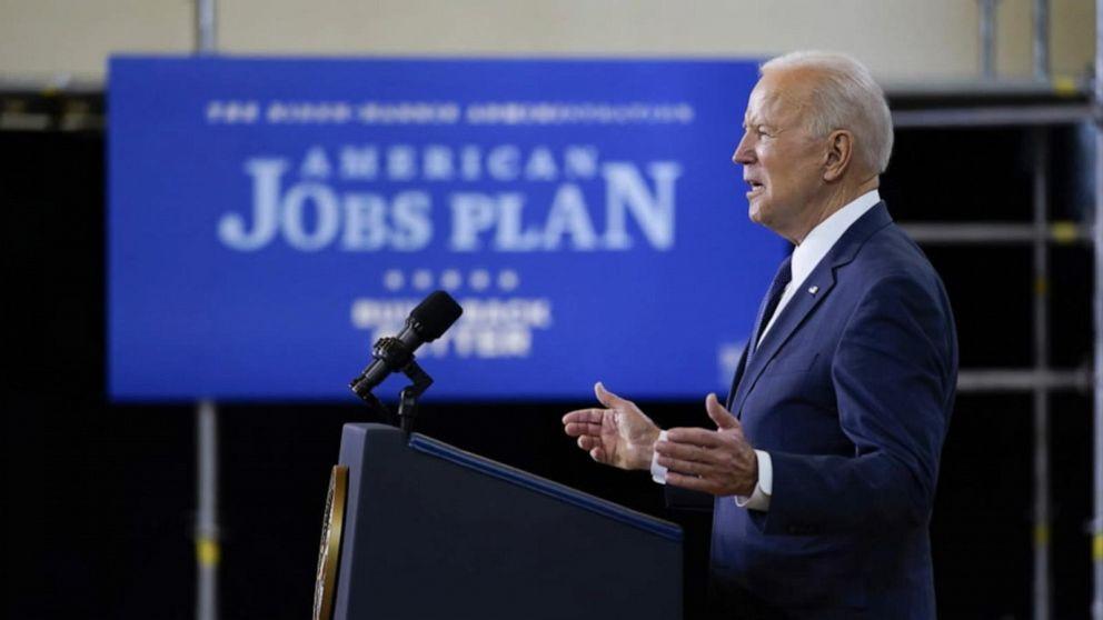 Biden calls on Republicans to support massive US jobs plan