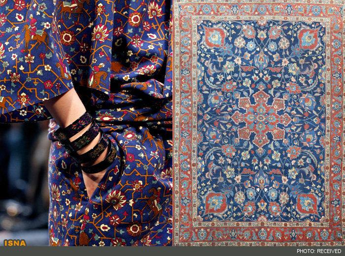 عکس لباس مدل های معروف دنیا ساخته شده از فرش ایرانی