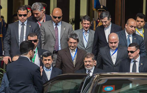 احمدی نژاد ، مشایی و مرسی در یک عکس
