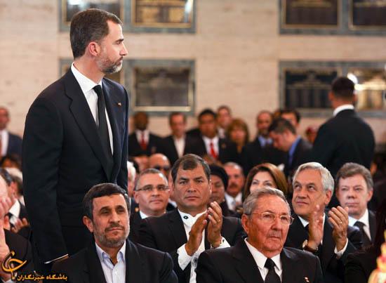 """902904 523 - فیلم و تصاوير خاص حضور """"احمدينژاد"""" در مراسم خاكسپاري چاوز"""