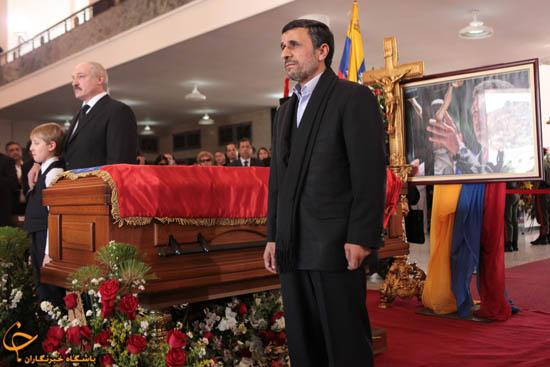 """902909 996 - فیلم و تصاوير خاص حضور """"احمدينژاد"""" در مراسم خاكسپاري چاوز"""